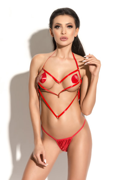 Портупея Me Seduce Queen of hearts Pure красная-S/M арт.0562